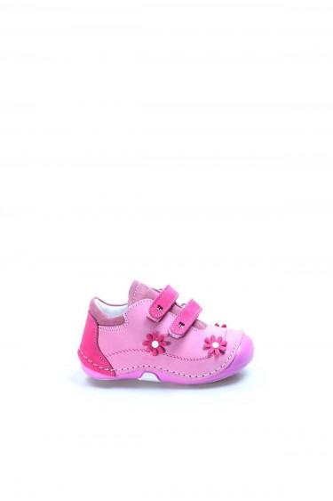 Hakiki Deri Fuşya Pembe Bebek Casual Ayakkabı 891BA507