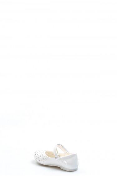 Beyaz Rugan Bebek Babet Ayakkabı 891BA508