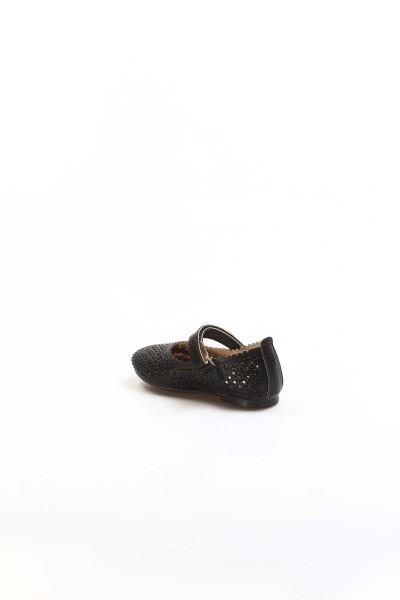 Siyah Simli Bebek Babet Ayakkabı 891BA509