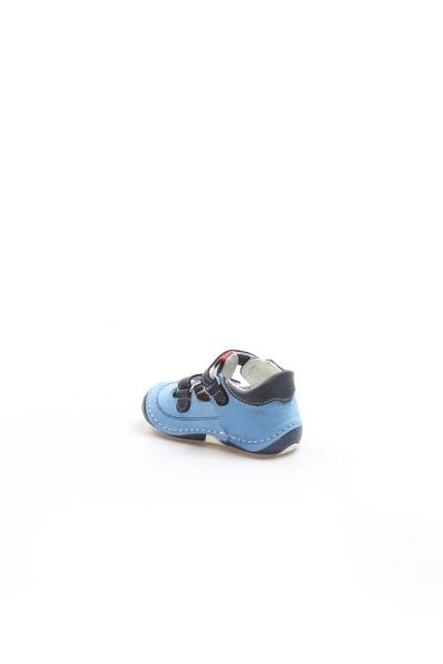 Hakiki Deri Lacivert Mavi Bebek Casual Ayakkabı 891BA510