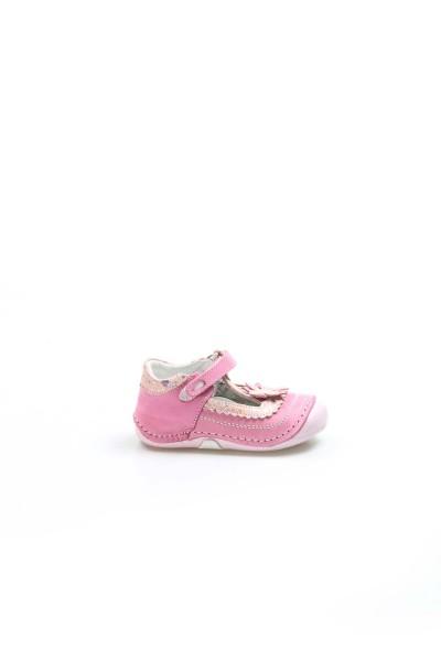 Hakiki Deri Fuşya Bebek Casual Ayakkabı 891BA511