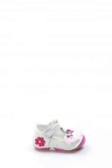 Hakiki Deri Beyaz Bebek Casual Ayakkabı 891IA505