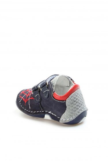 Hakiki Deri Lacivert Bebek Casual Ayakkabı 891IA506