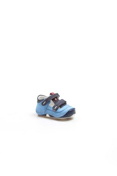 Hakiki Deri Lacivert Mavi Bebek Casual Ayakkabı 891IA510