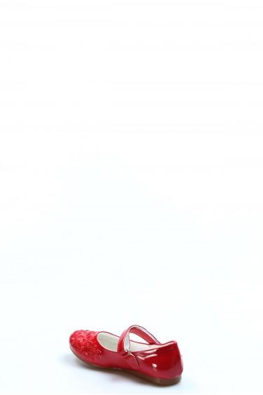 Kırmızı Rugan Kız Çocuk Babet Ayakkabı 891PA508