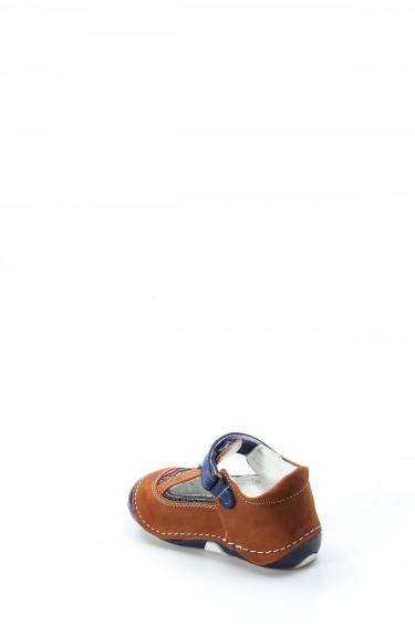 Hakiki Deri Taba Lacivert Bebek Casual Ayakkabı 891BA503
