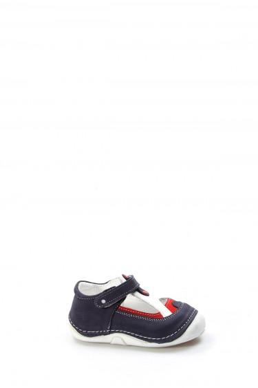 Hakiki Deri Lacivert Bebek Casual Ayakkabı 891BA503