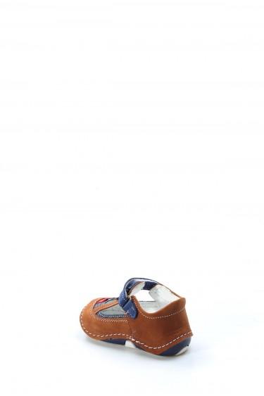 Hakiki Deri Taba Lacivert Bebek Casual Ayakkabı 891IA503