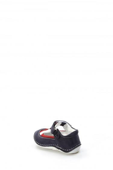 Hakiki Deri Lacivert Bebek Casual Ayakkabı 891IA503