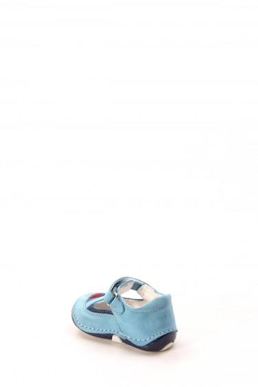 Hakiki Deri Turkuaz Lacivert Bebek Casual Ayakkabı 891IA503