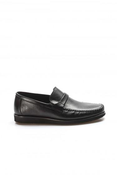 Hakiki Deri Siyah Zigana Erkek Klasik Ayakkabı 893MA5201