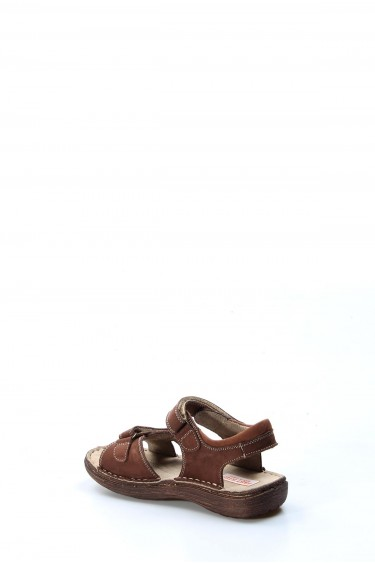 Hakiki Deri Kahve Nubuk Erkek Çocuk Klasik Sandalet 896FA7029