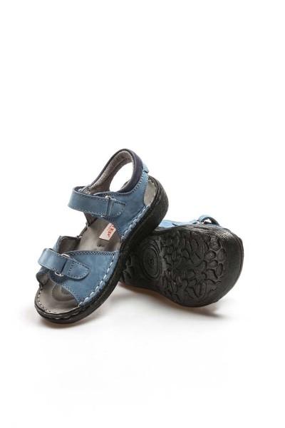 Hakiki Deri Kot Nubuk Erkek Çocuk Klasik Sandalet 896FA7029