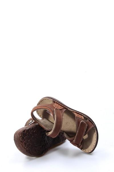 Hakiki Deri Kahve Nubuk Erkek Çocuk Serisonu Sandalet 896PA7029