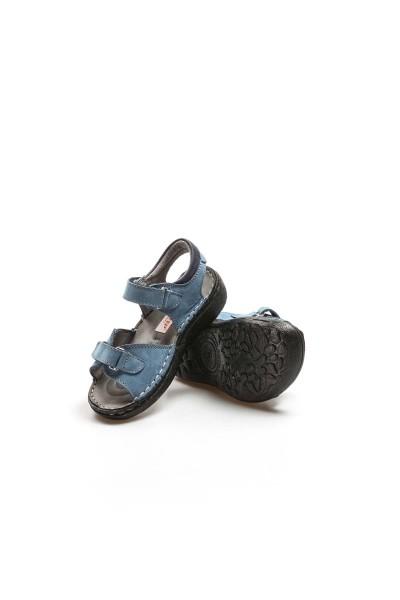Hakiki Deri Kot Nubuk Erkek Çocuk Serisonu Sandalet 896PA7029