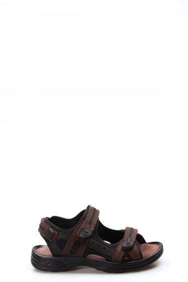 Hakiki Deri Kahve Erkek Klasik Sandalet 907GA1517