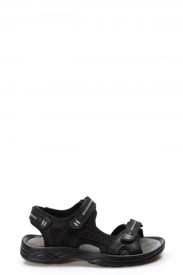 Hakiki Deri Siyah Erkek Klasik Sandalet 907MA1517