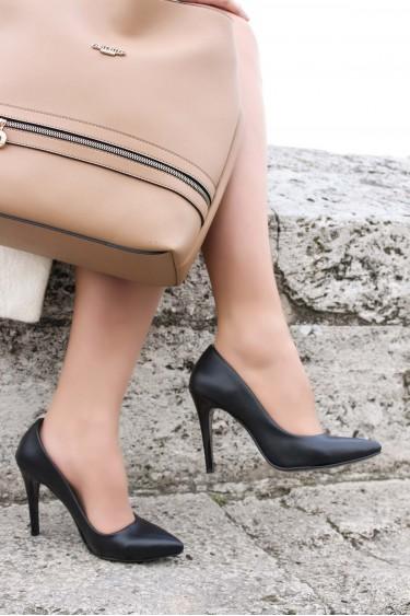 Siyah Kadın İnce Topuk Ayakkabı 917ZA7000