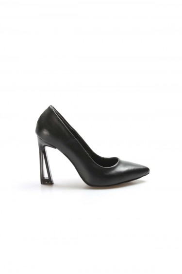 Siyah Kadın İnce Topuk Ayakkabı 917ZA7002