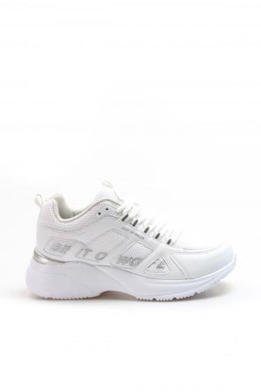Beyaz Unisex Sneaker Ayakkabı 923ZA076BST
