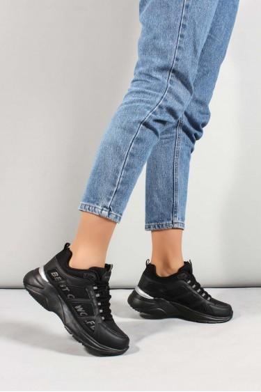 Siyah Unisex Sneaker Ayakkabı 923ZA076BST