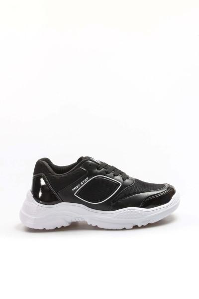 Siyah Beyaz Kadın Serisonu Ayakkabı 925ZA19