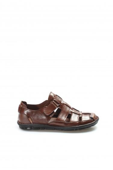 Hakiki Deri Taba Erkek Klasik Sandalet 927MA021