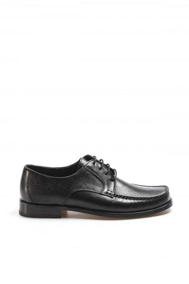 Hakiki Deri Kösele Siyah Erkek Klasik Ayakkabı 932MA65