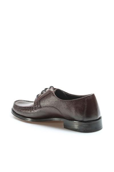 Hakiki Deri Kösele Kahve Erkek Klasik Ayakkabı 932MA65