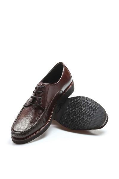Hakiki Deri Kösele Kahve Erkek Klasik Ayakkabı 932MA65EVA