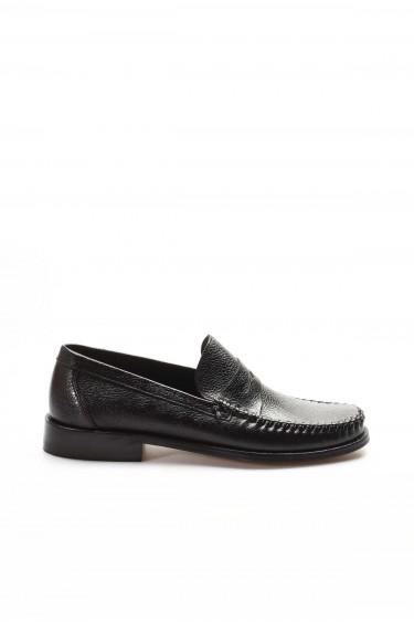 Hakiki Deri Kösele Siyah Erkek Klasik Ayakkabı 932MA68