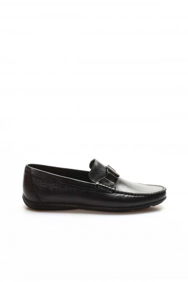 Hakiki Deri Siyah Erkek Loafer Ayakkabı 932MA112