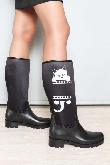 Siyah Cat Kadın Yağmur Çizme 933SZACN2