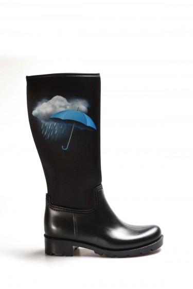 Siyah Rain Kadın Yağmur Çizme 933SZACN2