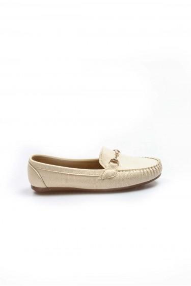 Bej Kadın Babet Ayakkabı 933ZA102