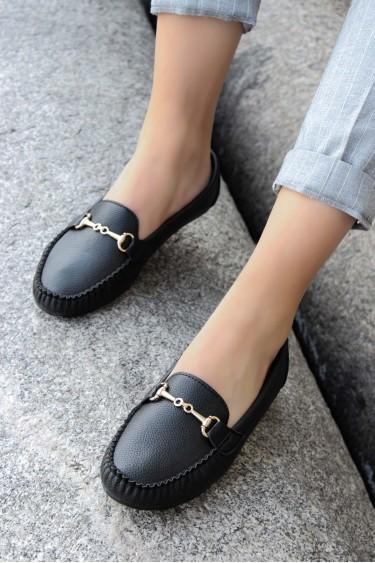 Siyah Kadın Babet Ayakkabı 933ZA102