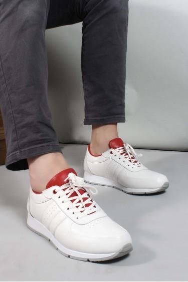 Hakiki Deri Beyaz Erkek Günlük Spor Ayakkabı 951MA555