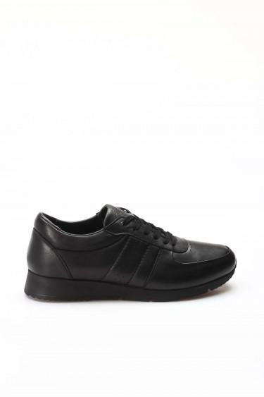 Hakiki Deri Siyah Erkek Günlük Spor Ayakkabı 951MA555