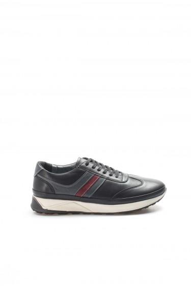 Hakiki Deri Siyah Erkek Günlük Spor Ayakkabı 951MA652