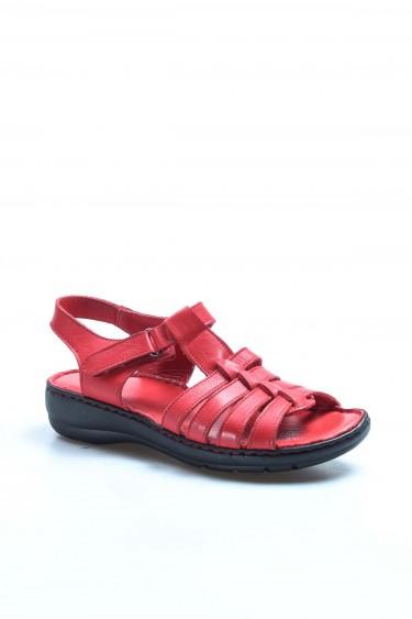 Hakiki Deri Kırmızı Kadın Klasik Sandalet 952ZA21888-1