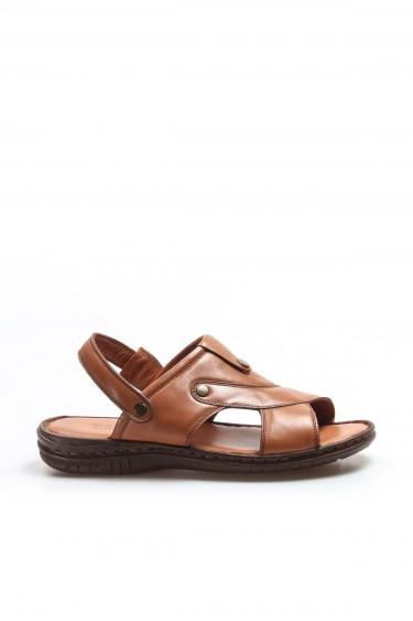 Hakiki Deri Taba Erkek Klasik Sandalet 952MA312