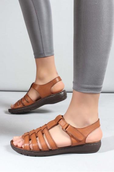 Hakiki Deri Taba Kadın Klasik Sandalet 952ZA21888-1