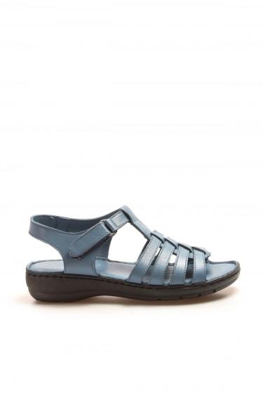 Hakiki Deri Kot Kadın Klasik Sandalet 952ZA21888-1