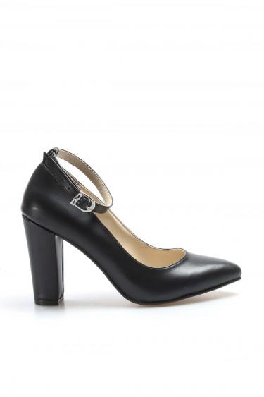 Siyah Kadın Yüksek Topuk Ayakkabı 961ZA552