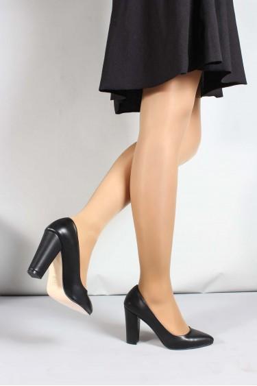 Siyah Kadın Yüksek Topuk Ayakkabı 961ZA554