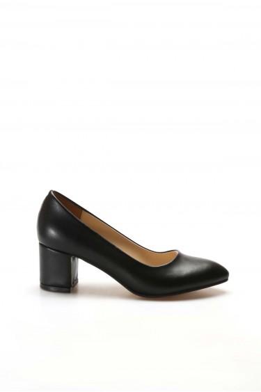 Siyah Kadın Kalın Topuklu Ayakkabı 961ZA559