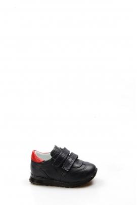 Hakiki Deri Lacivert Kırmızı Bebek Casual Ayakkabı 006BA900