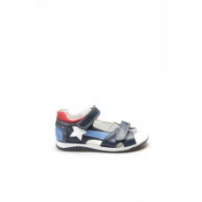 Hakiki Deri Lacivert Unisex Çocuk Klasik Sandalet 006FA700