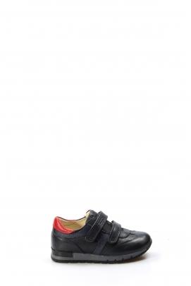 Hakiki Deri Lacivert Kırmızı Erkek Çocuk Casual Ayakkabı 006PA900