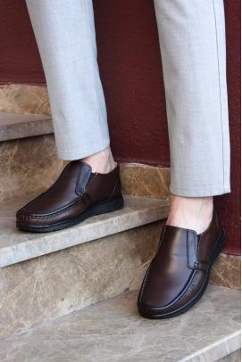 Hakiki Deri Kahve Erkek Loafer Ayakkabı 628MA08